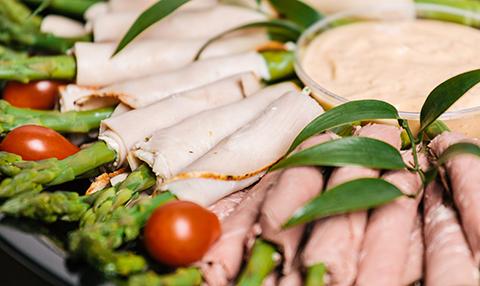 Turkey & Roast Beef Asparagus Roulades