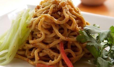 Spicy Peanut Noodle Salad with Chicken