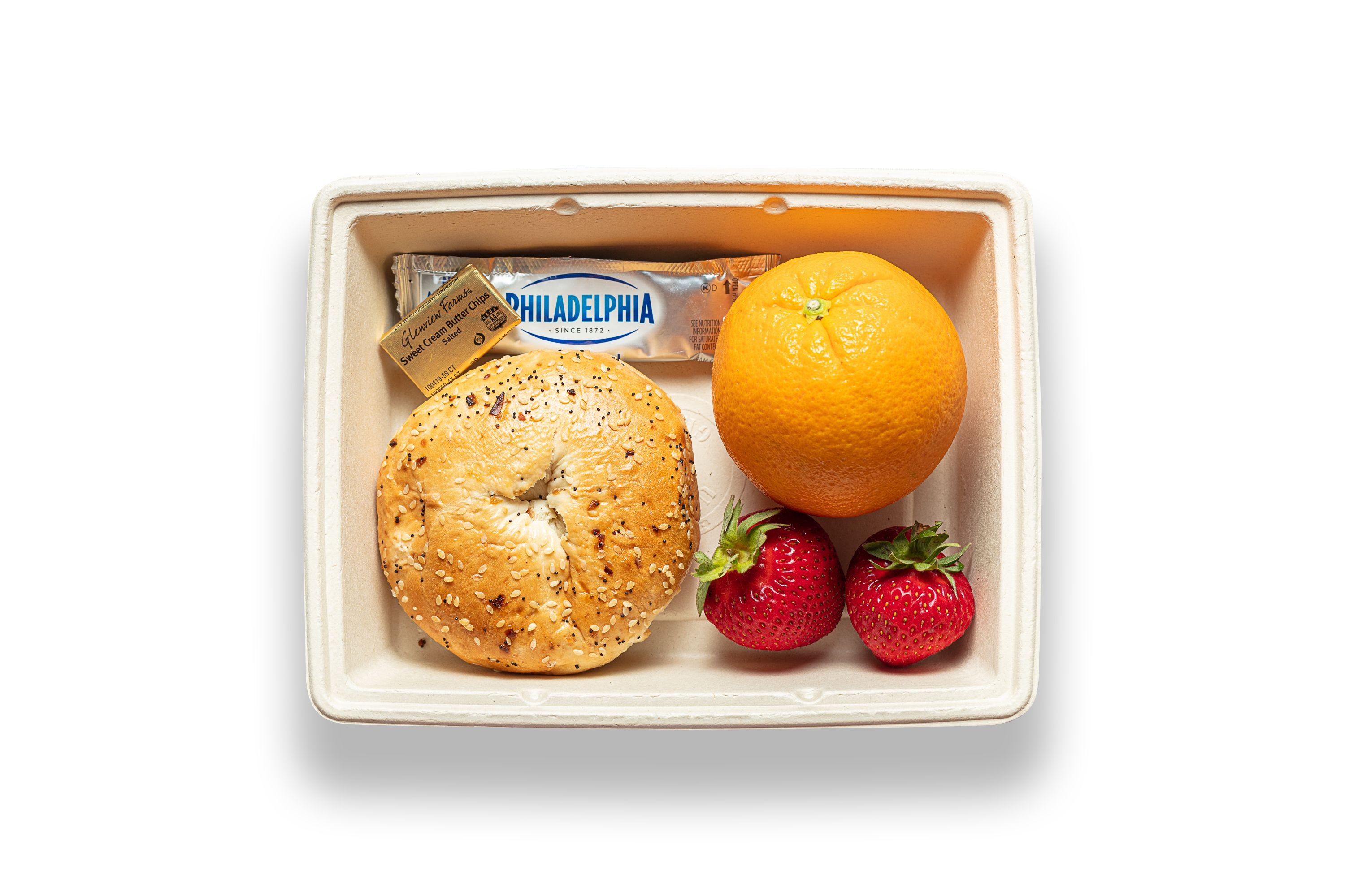 Bagel and Fruit